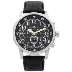 Giorgio Milano Steel Chronogprah Black Dial Quartz Men's Watch GM853SLBK