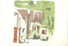 Green Landscape  - Vintage Offset Print after Giorgio Morandi - 1973