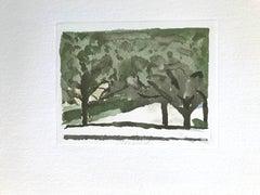Green Trees - Vintage Offset Print after Giorgio Morandi - 1973