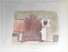 Grey Volumes with a Touch of Color - Vintage Print after Giorgio Morandi - 1973