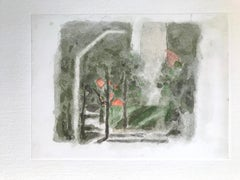 Landscape with a Red Spot - Vintage Offset Print after Giorgio Morandi - 1973