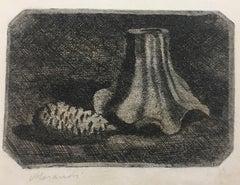 Natura morta con pigna e frammento di vaso - Giorgio Morandi - Etching - Modern
