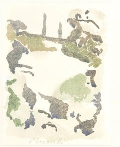 Natural Hills  - Vintage Offset Print after Giorgio Morandi - 1973
