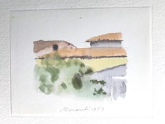 Roofs in Bologna - Vintage Offset Print after Giorgio Morandi - 1973