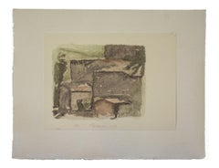 Rural Landscape - Vintage Offset Print after Giorgio Morandi - 1973