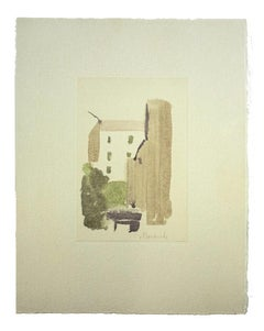 Rural Lanscape - Vintage Offset Print after Giorgio Morandi - 1973