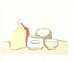 Still Life Composiion  - Vintage Offset Print after Giorgio Morandi - 1973