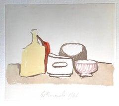 Still Life Composition - Vintage Offset Print after Giorgio Morandi - 1973