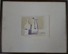 Still Life Offset Print After Giorgio Morandi Ilve Stamp Turin