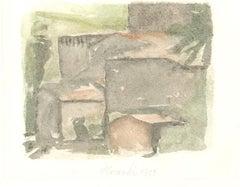 The Old Village - Vintage Offset Print after Giorgio Morandi - 1973