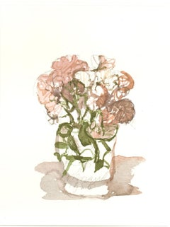 Vase with Flowers  - Vintage Offset Print after Giorgio Morandi - 1973