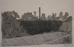 View of Montagnola, Bologna  Veduta della montagnola di Bologna - etchings