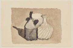 Watercolor - Vintage Offset Print after Giorgio Morandi - 1973