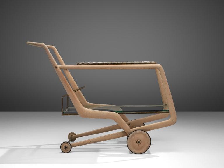 Mid-20th Century Giorgio Ramponi Elegant Serving Trolley, 1950s For Sale