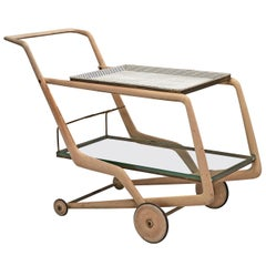 Giorgio Ramponi Elegant Serving Trolley, 1950s