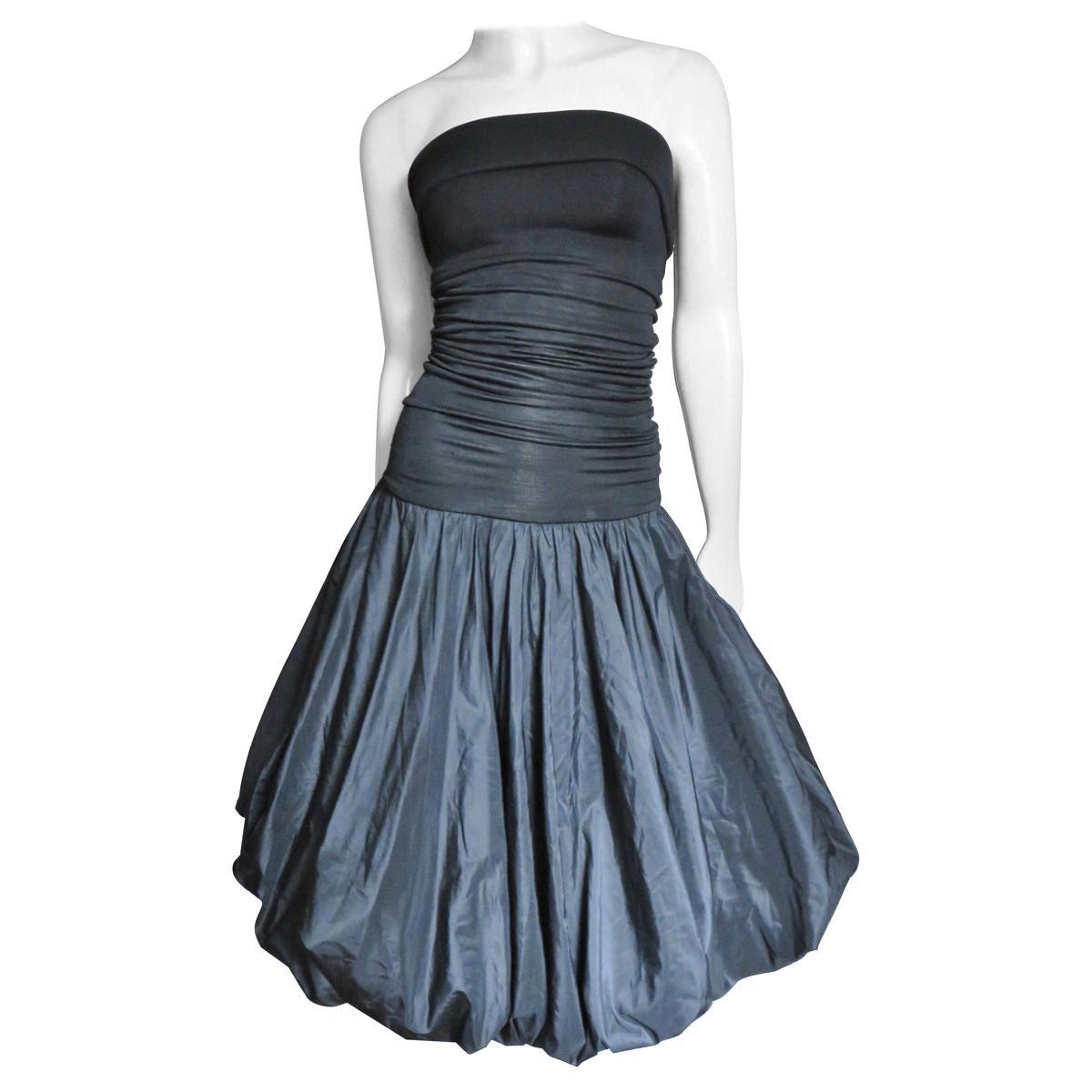 Giorgio Sant 'Angelo Strapless Dress 1980s