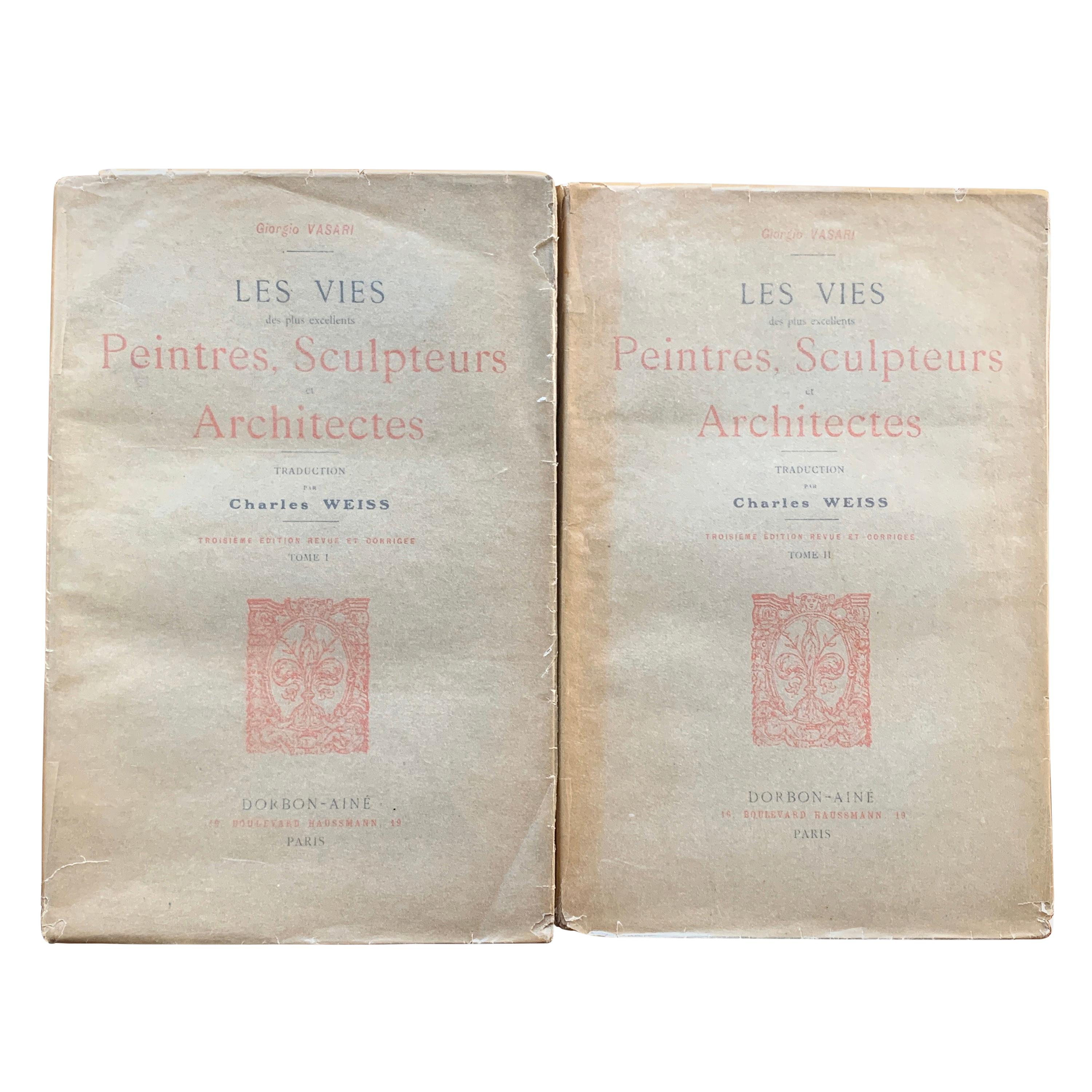Giorgio Vasari 'The Lives of the Painters, Sculptors and Architects' Two Volume