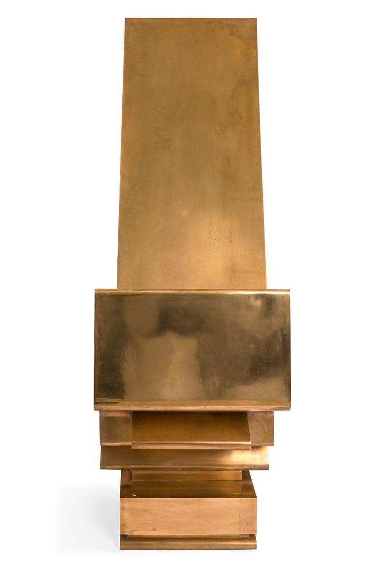 Italian Giorgio Zennaro Signed Patinated Bronze Sculpture, Italy, 1972 For Sale