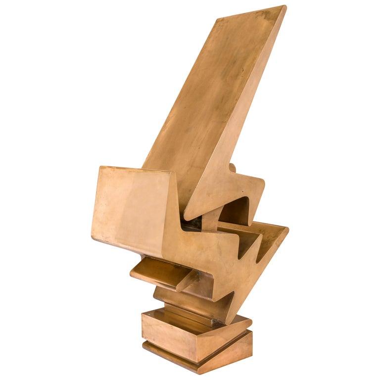 Giorgio Zennaro Signed Patinated Bronze Sculpture, Italy, 1972 For Sale
