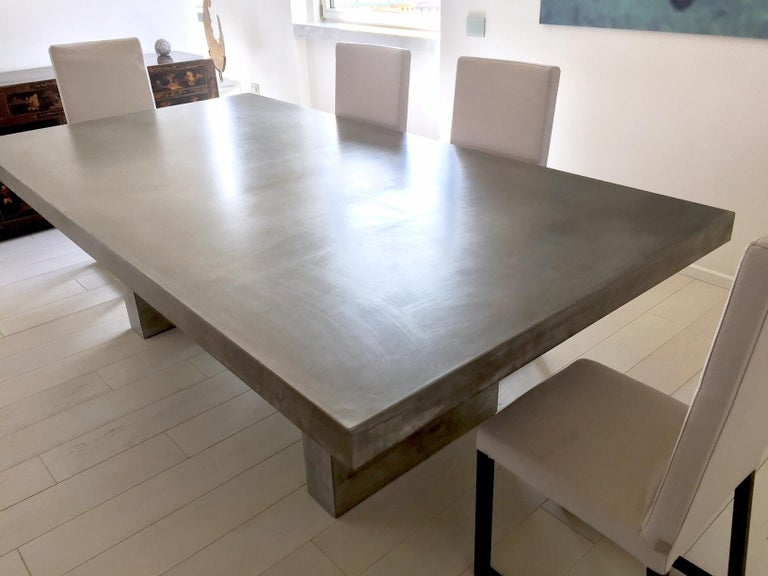 Giorgione, Concrete Dining Table, 100% Handcrafted in Italy