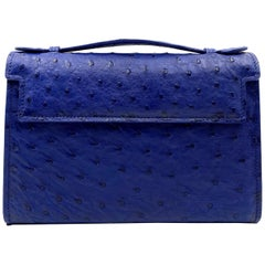 Giòsa Milano Blue Ostrich Bag