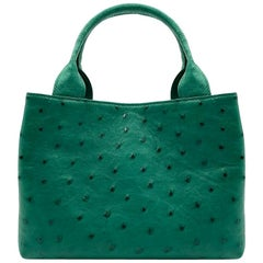Giòsa Milano Citrus Green Ostrich Bag