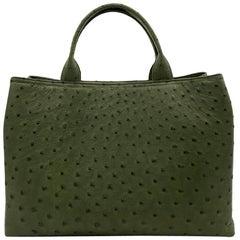 Giòsa Milano Forest Green Ostrich Bag