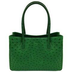 Giòsa Milano Green Ostrich Bag