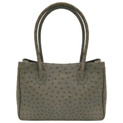 Giòsa Milano Grey Ostrich Bag