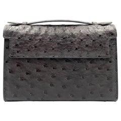 Giòsa Milano Grey Ostrich Bag