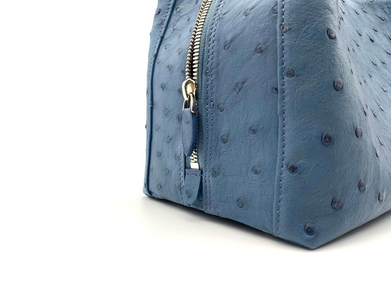 Giòsa Milano Jeans Ostrich Bag For Sale 1