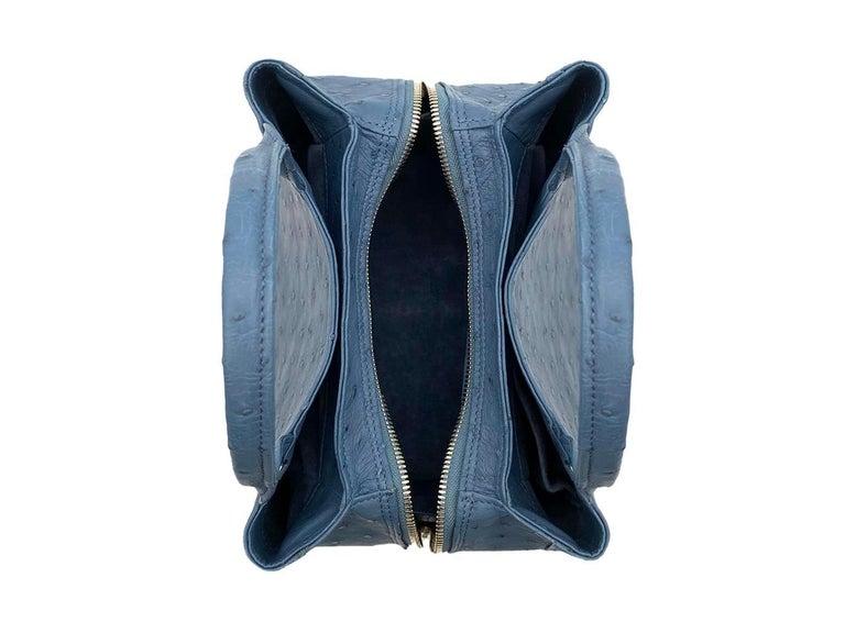 Giòsa Milano Jeans Ostrich Bag For Sale 2