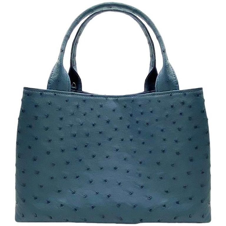 Giòsa Milano Jeans Ostrich Bag For Sale