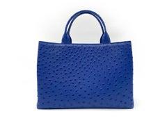 Giòsa Milano Bright Blue Ostrich Bag