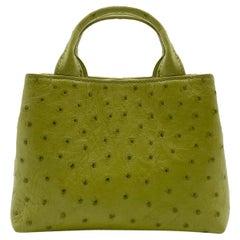 Giòsa Milano Pistachio Green Ostrich Bag