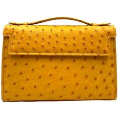 Giòsa Milano Yellow Ostrich Bag