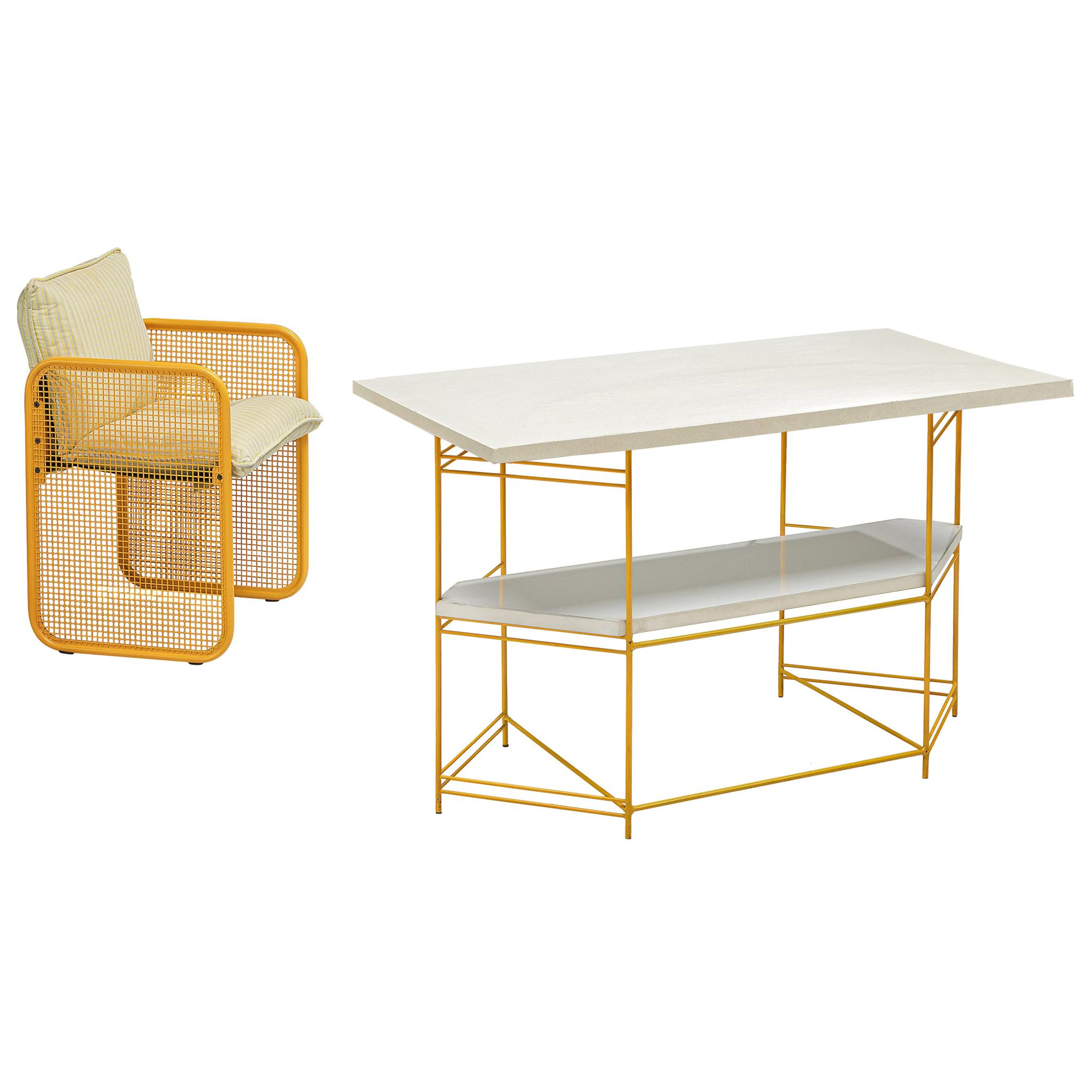 Giotto Stoppino Desk and Armchair, 1970s