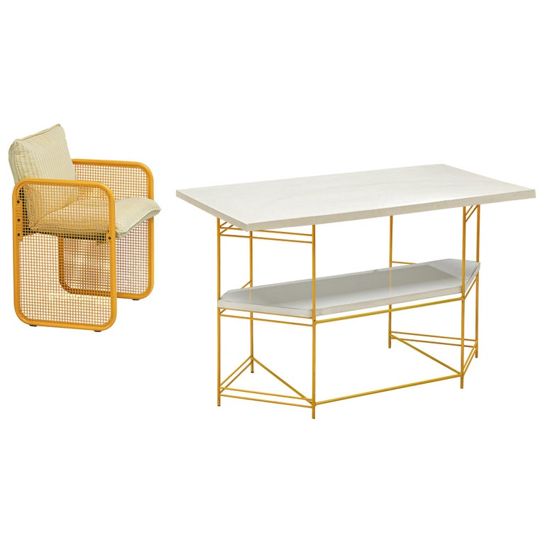 Giotto Stoppino Desk and Armchair, 1970s For Sale