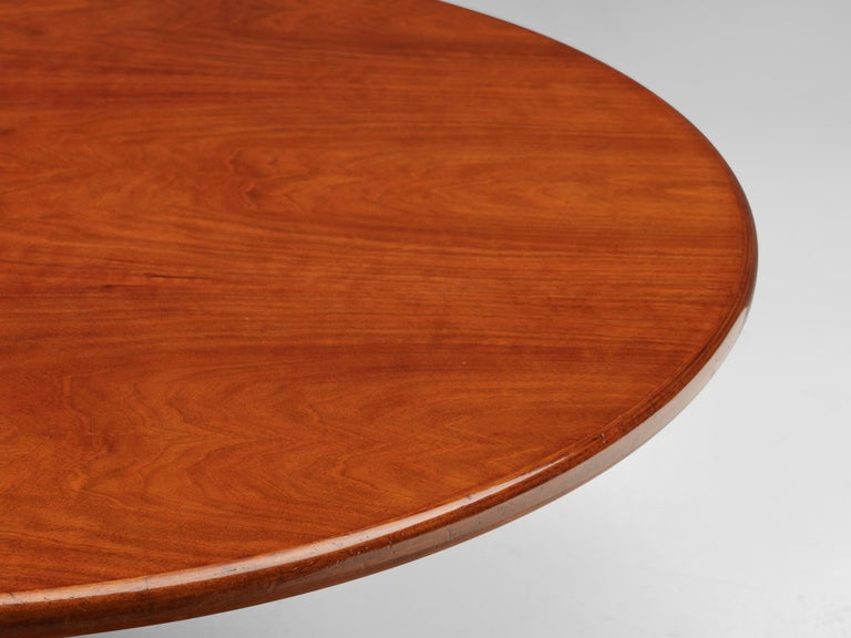 Steel Giotto Stoppino for Bernini Round Dining Table 'Maia' in Walnut and Metal For Sale