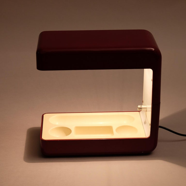 Aluminum Giotto Stoppino, Isos Table Lamp, 20th Century For Sale