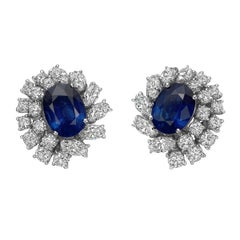 Giovane Sapphire Diamond Cluster Earrings