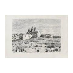 Giovanni Antonio Canal 'Canaletto' Etching of Prato Della, Venice, 1697-1768
