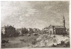 Al Dolo - Original Etching by Canaletto - 1735/44