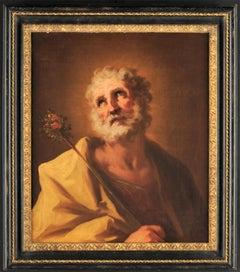 18th century Italian figurative painting Saint - Venetian oil on canvas Venice