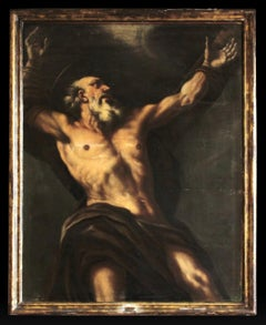 Saint Andrew The Apostle Oil Of Canvas By Giovanni Battista Beinaschi
