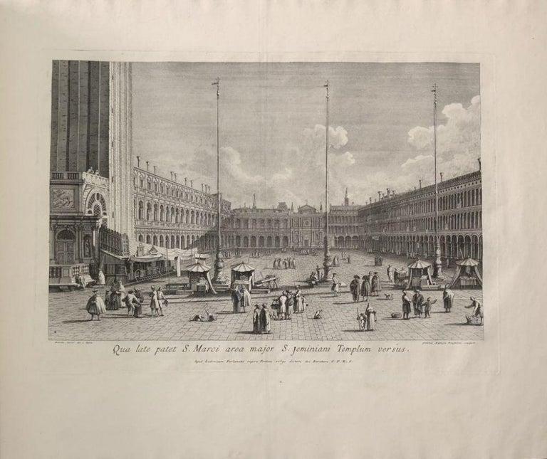 Prospectuum Aedium Viarumque Insignorum Ubis Venetiarum -by G.B. Brustolon- 1763 - Gray Figurative Print by Giovanni Battista Brustolon