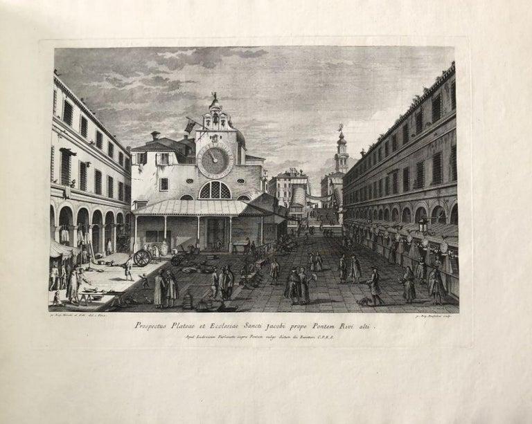Prospectuum Aedium Viarumque Insignorum Ubis Venetiarum -by G.B. Brustolon- 1763 For Sale 2