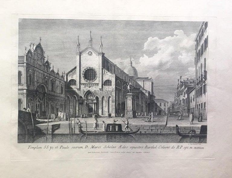 Prospectuum Aedium Viarumque Insignorum Ubis Venetiarum -by G.B. Brustolon- 1763 - Print by Giovanni Battista Brustolon