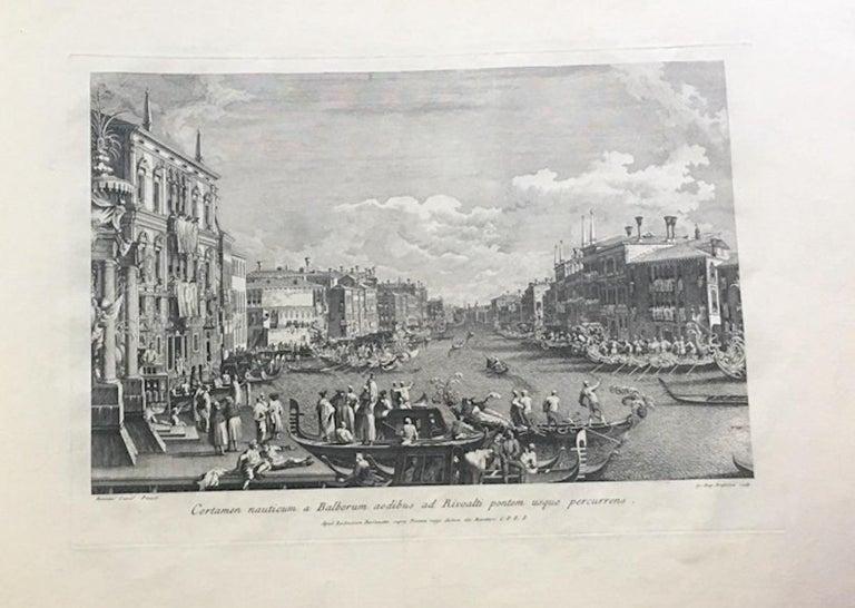 Prospectuum Aedium Viarumque Insignorum Ubis Venetiarum -by G.B. Brustolon- 1763 - Old Masters Print by Giovanni Battista Brustolon