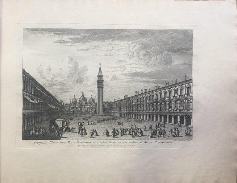 Prospectuum Aedium Viarumque Insignorum Ubis Venetiarum -by G.B. Brustolon- 1763 For Sale 1